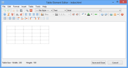 table element editor