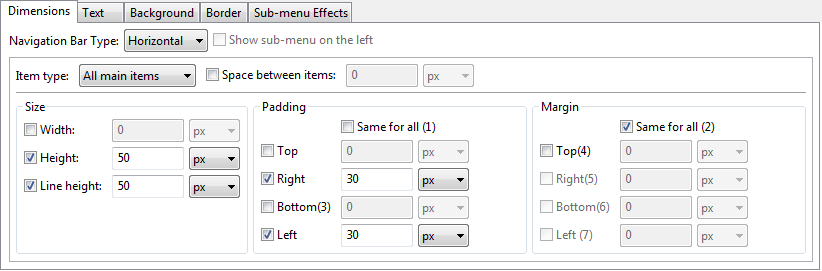 how to set a second line tab