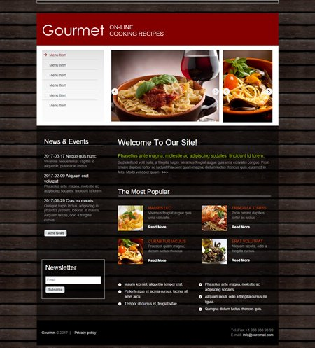 Templates For Websites | Website Realizer Template Websites Page 1